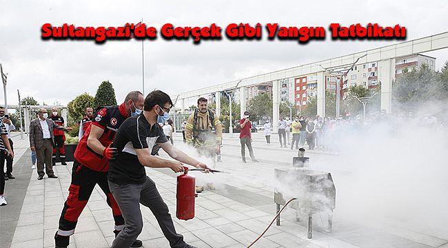 Sultangazi'de Gerçek Gibi Yangın Tatbikatı