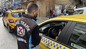 Sivil trafik polisleri taksi denetimi yaptı