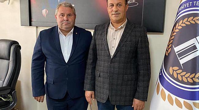 Gazeteci Karagöz'den EMŞAV Başkanı Yılmaz'a ZİYARET