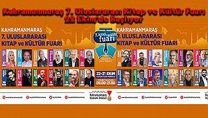Kahramanmaraş 7. Uluslararası Kitap ve Kültür Fuarı 22 Ekim'de Başlıyor