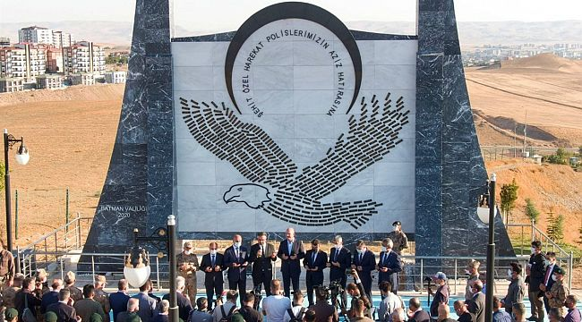 Özel Harekatçı Şehit Polisler Anıtı Törenle Açıldı