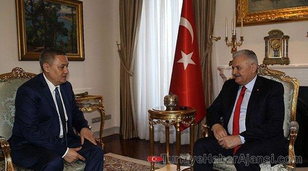 Başbakan Yıldırım, Azimov'u kabul Etti