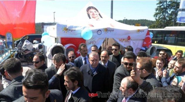 Cumhurbaşkanı Erdoğan 'Hayır' Çadırında!