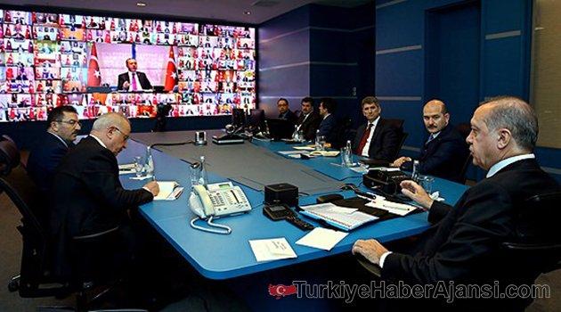 Erdoğan 81 İl Valisiyle Telekonferans Yaptı