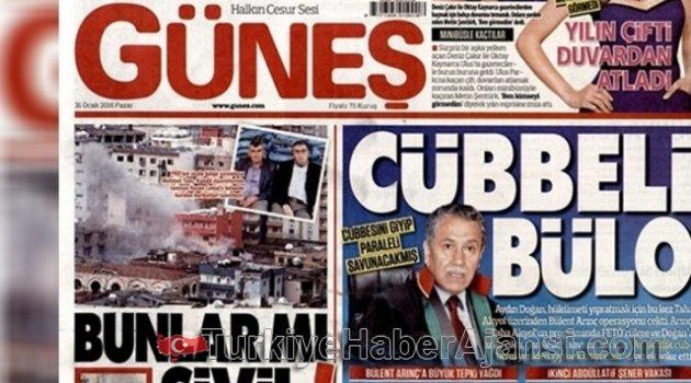 Güneş gazetesi, Arınç'ı 'Cübbeli Bülo' İlan Etti!