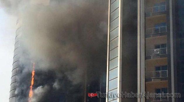 Bursa'da Otel İnşaatında Yangın