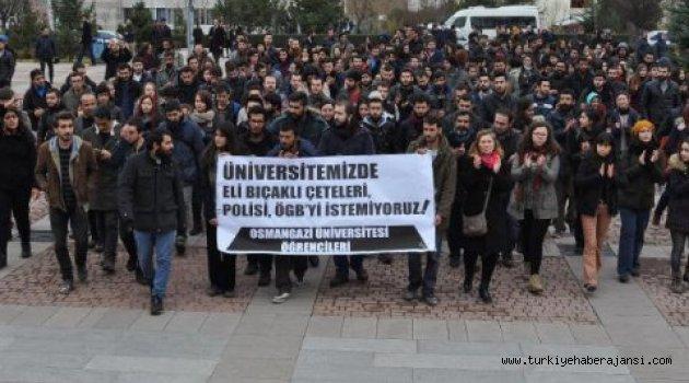 Eskişehir'de Öğrenciler Rektörlüğe Yürüdü