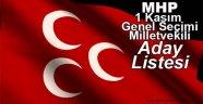İşte 2015 MHP Milletvekili Aday Listesi