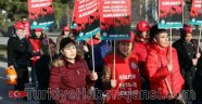 İşçiler 'Kölelik Büroları'na Karşı Yürüdü