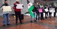 Almanya'da 'Suriye'ye Özgürlük' Mitingi