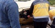Bursa'da Midibüs İle Otomobil Çarpıştı