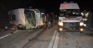 Çanakkale'de Minibüs Devrildi!