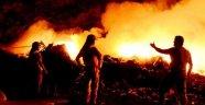 Çöplükte Başlayan Yangın Söndürülemiyor