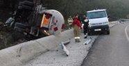 Devrilen LPG Yüklü Tankerin Şoförü Öldü