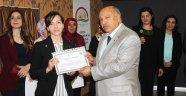 Düzce'de Çiftçi Kursları Sertifika Dağıtım Töreni Düzenlendi