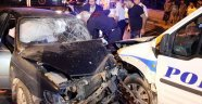 Feci Kaza! 1'i Polis 3 Yaralı