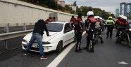 Güvenlik Şeridine Girip Polisleri Ezdiler