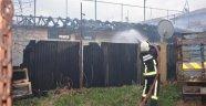 Halı Sahada Çıkan Yangın Korkuttu