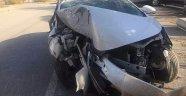 Komutanların Bulunduğu Araç Kaza Yaptı