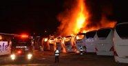 Korkunç Gece! 6 Otobüs Cayır Cayır Yandı