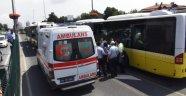 Metrobüs Bariyere Çarptı: Yaralılar Var