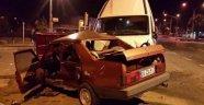 Otomobil Ters Şeritten Kavşağa Girdi: 1 Yaralı