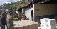 Şemdinli'de 36500 Paket Kaçak Sigara Yakalandı