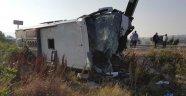 Susurluk'ta Yolcu Otobüsü Devrildi: 1 Ölü 47 Yaralı