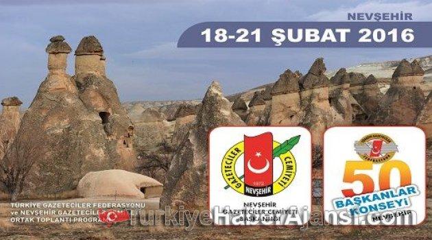 TGF 50. Başkanlar Konseyi Nevşehir'de Yapılacak