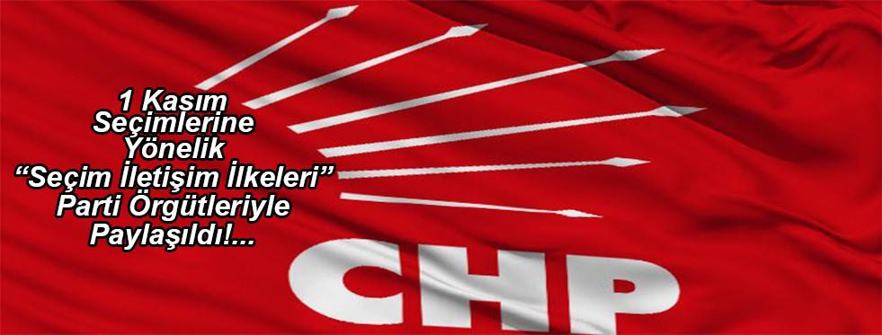CHP Seçim İlkelerini Belirledi