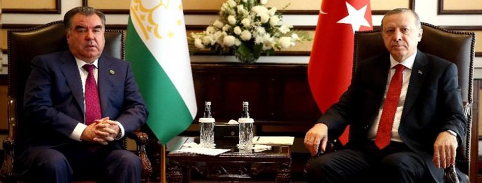 Erdoğan Tacik Mevkidaşıyla Görüştü