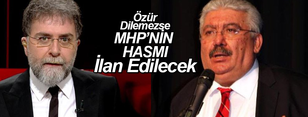 MHP'den Ahmet Hakan'a Tehdit