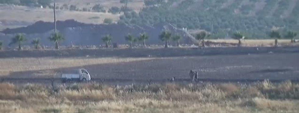 Türk Tankını Gören DAEŞ'liler Kaçtı